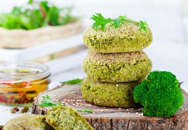 Recetas Fitness con Brócoli hamburguesa