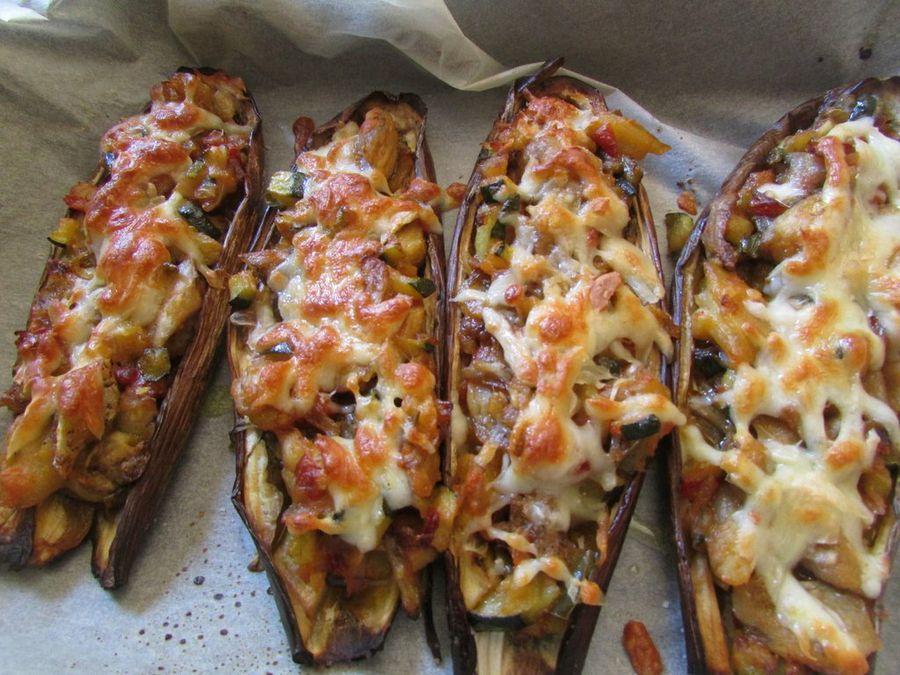 canoas berenjena tomate queso Eatlean